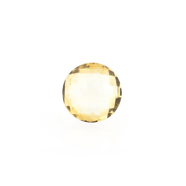 Citrin, goldfarben (hell), Briolett, facettiert, rund, 8 mm