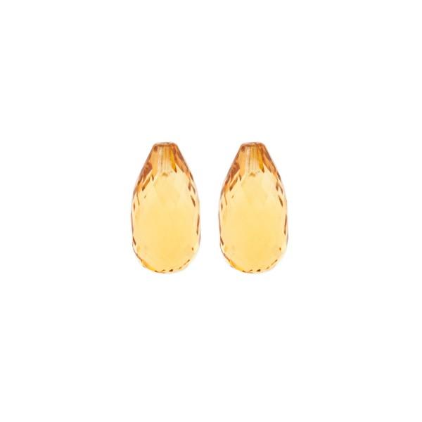 Citrin, palmeira, orange, Pampel, facettiert, 15x8mm
