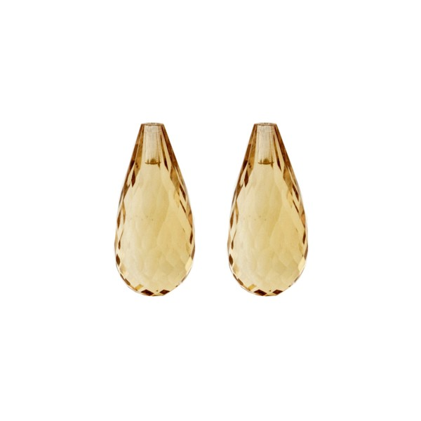 Champagne quartz, champagne, teardrop, faceted, 22 x 10 mm