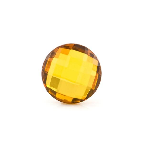 Natural amber, golden, briolette, round, 12 mm