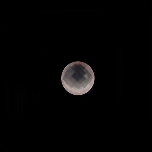 Rosaquarz, rosa, Briolett, facettiert, rund, 6 mm