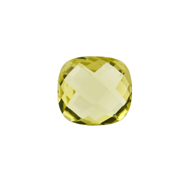 Lemonquarz, lemon, intensiv, Briolett, facettiert, antik, 10x10mm