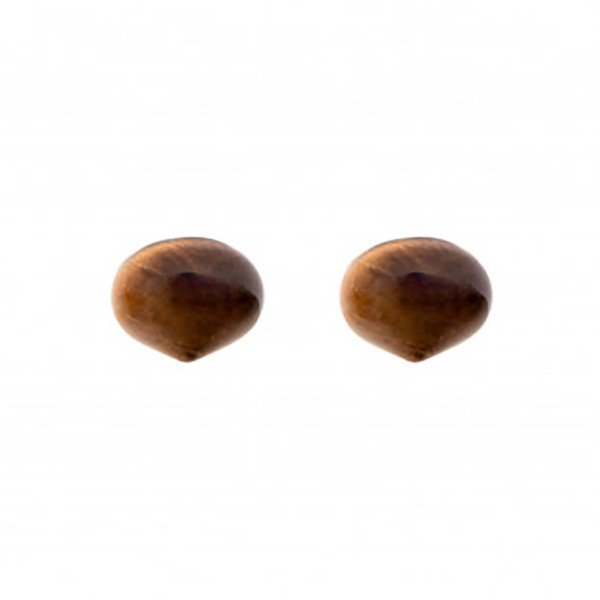 Tiger's eye, brown, smooth teardrop, onion shape, 13 x 11 mm