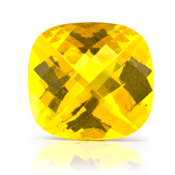 Natural amber, golden, faceted, diagonal chessboard pattern, antique shape, 16 x 16 mm