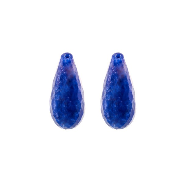Lapis, blau, Pampel, facettiert, 22x10 mm
