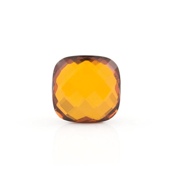 Natural amber, cognac-colored, briolette, antique shape, 10 x 10 mm