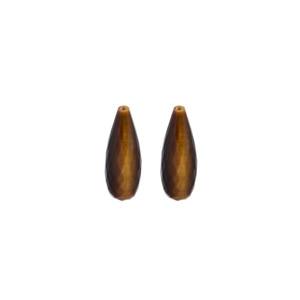 Tigerauge, braun, Pampel, facettiert, 15x6 mm