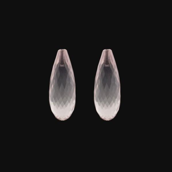 Rosaquarz, rosa, Pampel, facettiert, 22x10 mm