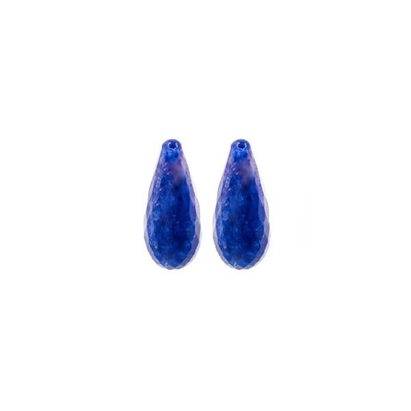 Lapis, blau, Pampel, facettiert, 15x6 mm