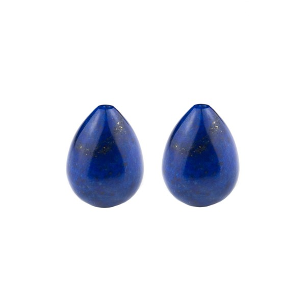 Lapis, blue, teardrop, smooth, 17 x 13 mm
