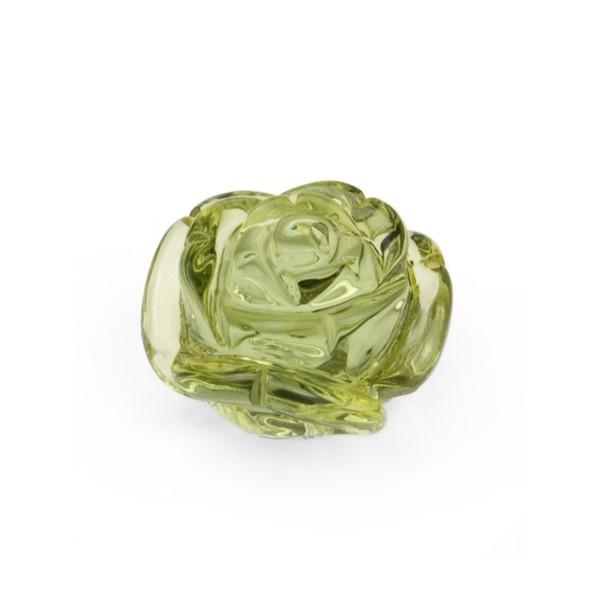 Bernstein (natur), grün, Rose, Ø 17-18mm