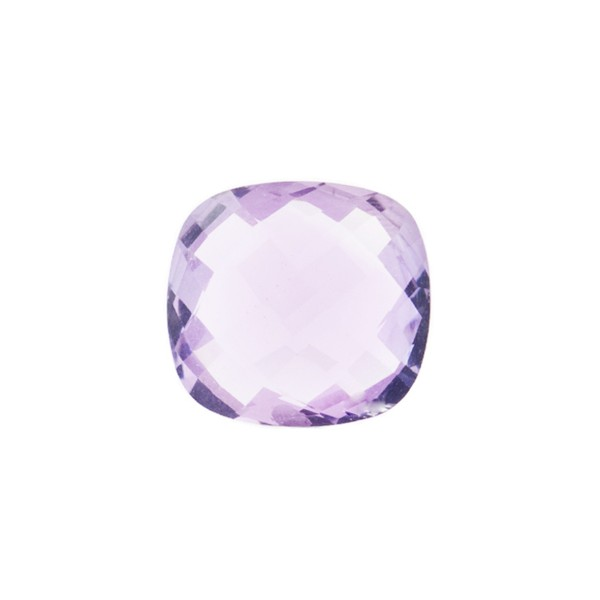 Amethyst (Brazil), lavender, faceted briolette, antique shape, 12 x 12 mm