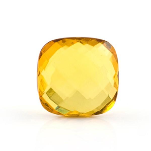 Natural amber, golden, briolette, antique shape, 13 x 13 mm