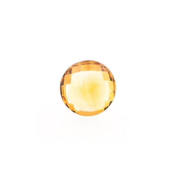 Citrin, palmeira, orange, Briolett, facettiert, rund, 8 mm