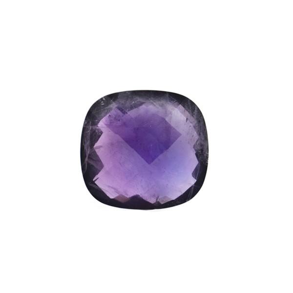 Amethyst (Africa), dark violet, faceted briolette, antique shape, 12 x 12 mm