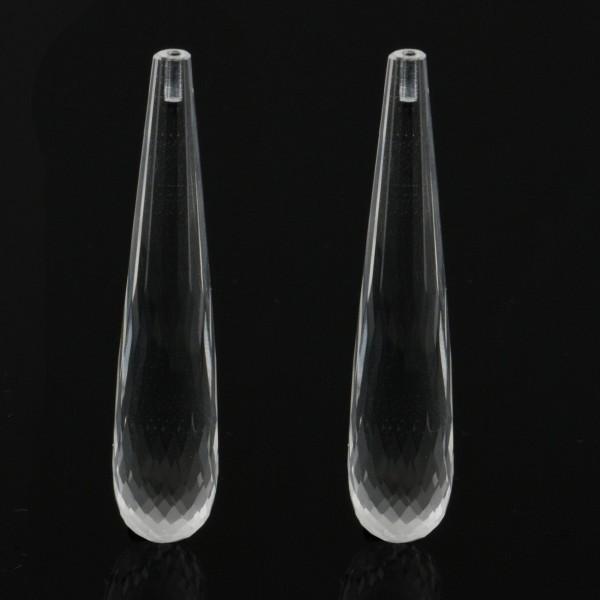 Bergkristall, transparent, farblos, Pampel, facettiert, 41x9 mm