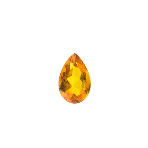 Natural amber, cognac-colored, faceted, pear-shaped, 10 x 7 mm