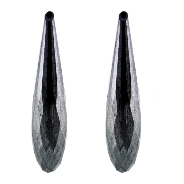 Hämatit (Blutstein), grau, Pampel, facettiert, 41x9 mm