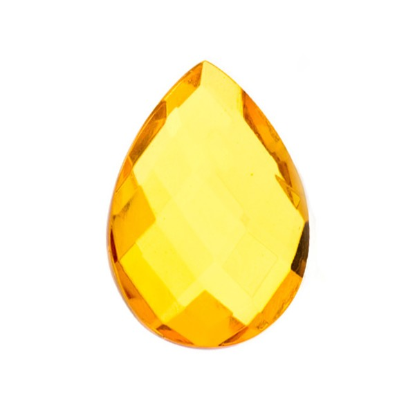 Natural amber, golden, briolette, pear shape, 20 x 15 mm