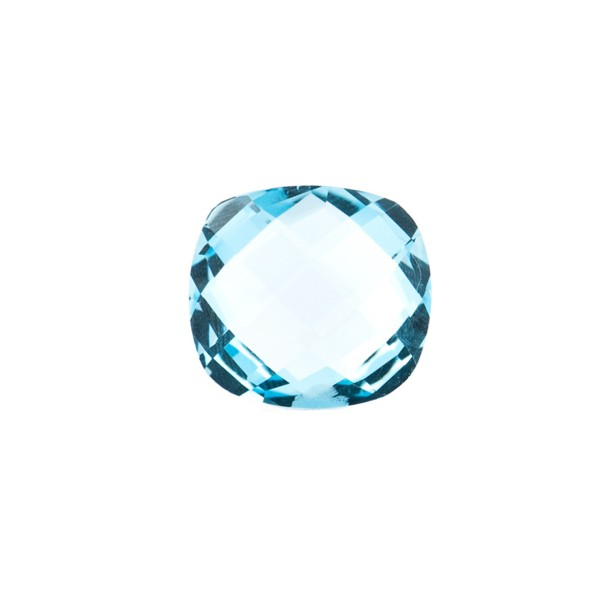 Blue topaz, sky blue, faceted briolette, antique shape, 10 x 10 mm