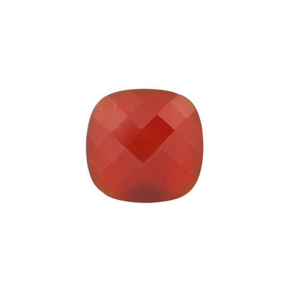 Agate, dyed, red, briolette, antique shape, 10 x 10 mm
