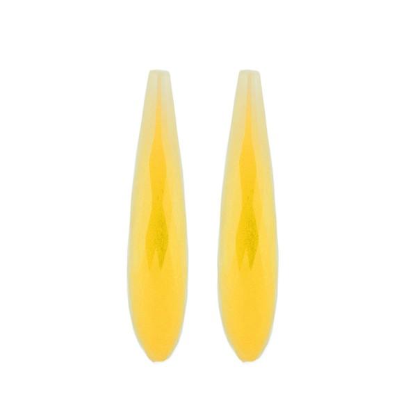 Achat, gefärbt, gelb, Pampel, facettiert, 35x8 mm