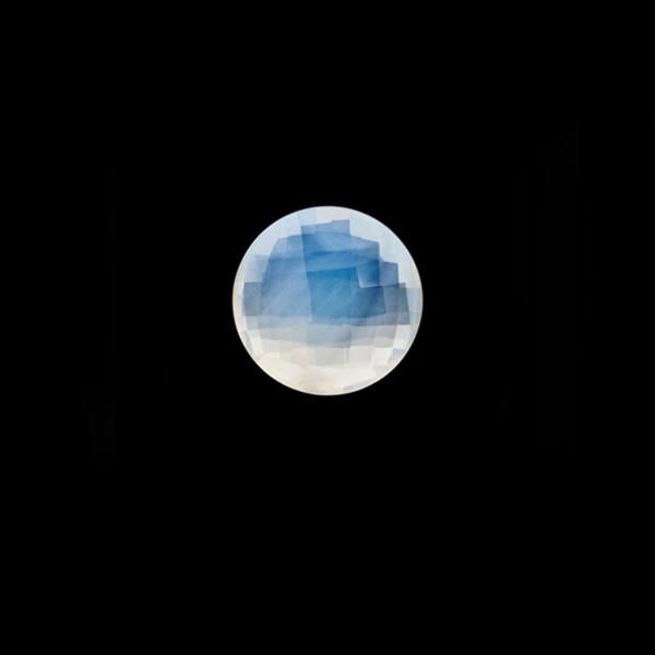Citrine, white, faceted briolette, round, 8 mm