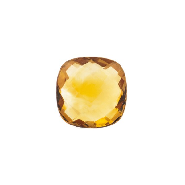 Citrine, palmeira, orange, faceted briolette, antique shape, 10 x 10 mm