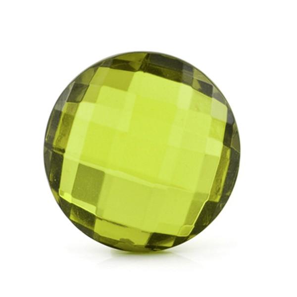 Bernstein (natur), grün, Briolett, facettiert, rund, 25mm