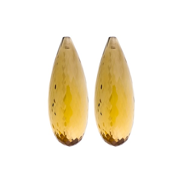 Champagne quartz, champagne, faceted teardrop (harlequine), 30 x 12 x 10 mm