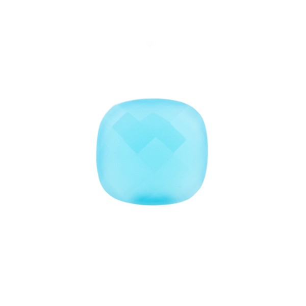 Agate, dyed, turquoise, briolette, antique shape, 8 x 8 mm