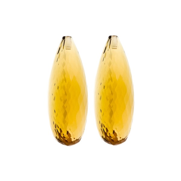 Citrine, golden color, faceted teardrop (harlequine), 30 x 12 x 10 mm