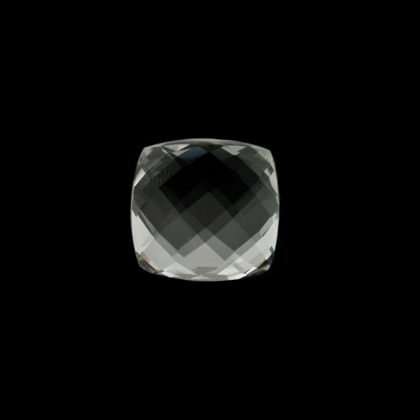 Rock crystal, transparent, colorless, faceted briolette, antique shape, 8 x 8 mm