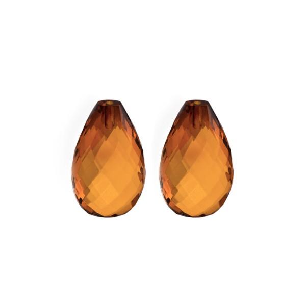 Bernstein (natur), cognacfarben, Pampel, facettiert, Harlekin, 18x11x7.5mm