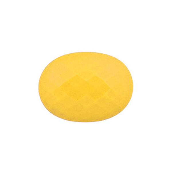 Achat, gefärbt, gelb, Briolett, facettiert, oval, 14x12mm