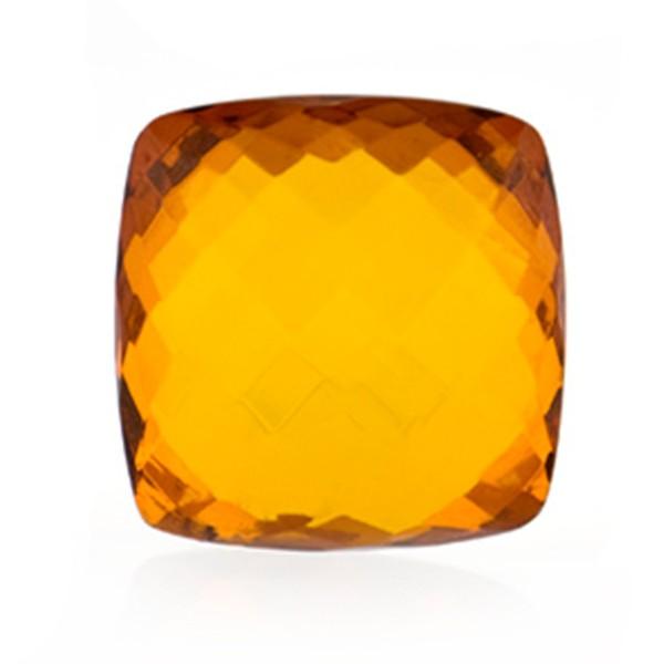Bernstein (natur), cognacfarben, Briolett, facettiert, spitzantik, 18x18mm